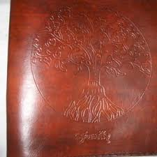custom leather photo album custom small tooled leather photo album memory book by