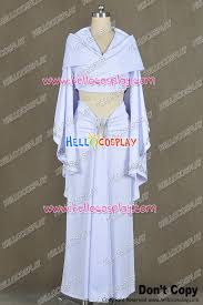 Padme Halloween Costumes Star Wars Padmé Amidala Dress Cosplay Costume White