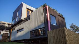 Beautiful Brown Color Nuance Natural Prefab Homes For Sale That Has Brown Exterior Wall Color