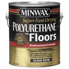 minwax 1 gal satin fast drying polyurethane for floors