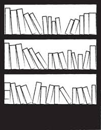 books clipart image black and white drawing of a bookcase or