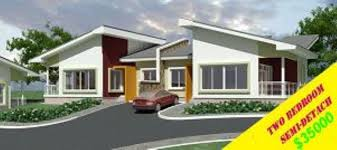 Ghana House Plans Ohenewaa House Semi Detached House Plans In Zambia