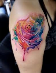 best 25 colorful flower tattoo ideas on pinterest color tattoo