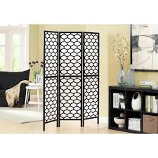 monarch specialties 5 92 ft black 3 panel room divider i 4639