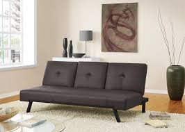 amazon com dhp wynn futon couch with fold down cupholder brown