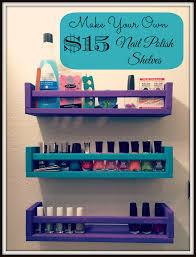 hurry up and wait diy nail polish storage shelves
