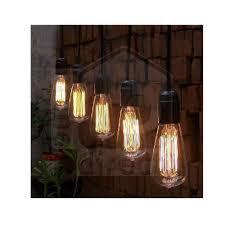 Hanging Light Bulb Pendant New Thomas Edison Vintage Hanging Pendant Restaurant Cafe Light
