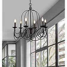 Chandelier Metal Claxy Ecopower Lighting Industrial Vintage 6 Lights Candle