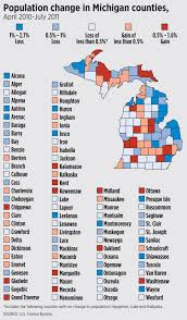 Michigan Counties Map See Which Michigan Counties Lost Population And Which Grew Based