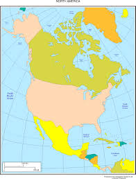 North America Map With Cities by North America Map With Cities Blank Outline Map Of North America