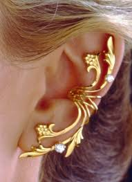 earring on ear ear fleur de ear cuff earring wraps non pierced in gold