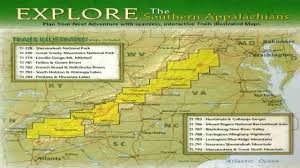 appalachian mountains on map national geographic maps southern appalachian mountains explorer