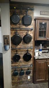 kitchen tidy ideas kitchen wall storage for cast iron pans no link just picture