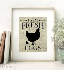 amazon com rustic farmhouse wall decor burlap sign farm fresh