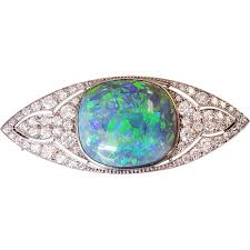 dark blue opal marcus u0026 co 10ct black opal and diamond brooch black opal