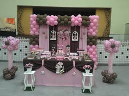 pink and brown baby shower photo 2 of 8 pink brown dessert table birthday for