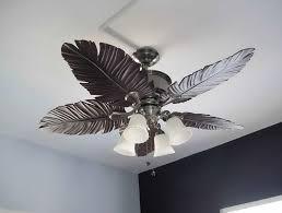 leaf ceiling fan with light tropical leaf ceiling fan home design ideas