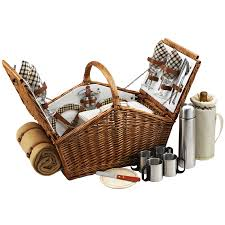 picnic basket for 4 huntsmen picnic basket picnic baskets yogipicnicbaskets