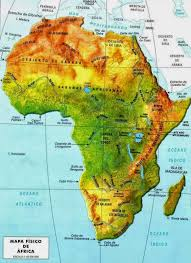 africa map elevation africa physical map free printable maps