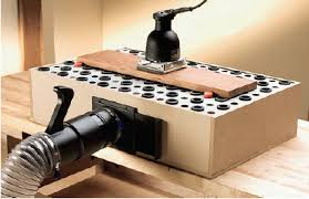 delta downdraft sanding table rockler downdraft table panels add steel panels to your table for