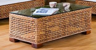 wicker side table with glass top rattan coffee table design square rattan coffee table white with
