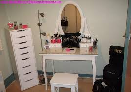 glass top vanity table furniture inspiring glass top makeup table featuring oval shaped