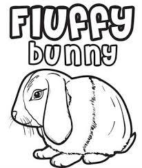 free printable bunny rabbits coloring kids