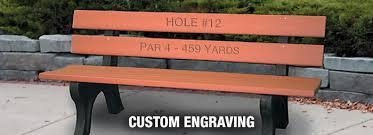 Engraved Garden Benches Engraving
