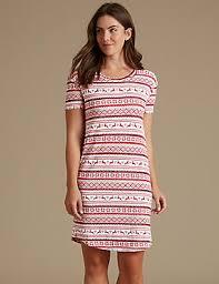 ladies nightdresses short u0026 long cotton nightdress u0026 nighties m u0026s