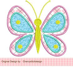 embroidery design butterfly applique machine embroidery design