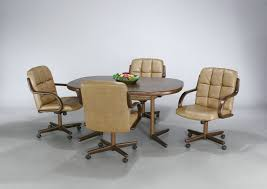 kitchen table with caster chairs dining room chairs with casters kitchentoday pertaining to kitchen