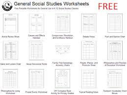 free social studies worksheets variety of general social studies