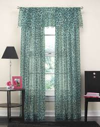 Sheer Curtains With Valance Cheetah Animal Print Beaded Valance Curtainworks
