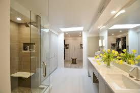 Bathroom With Two Separate Vanities by Mid Century Modern Master Bathroom Aco
