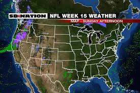 Chicago Weather Map by Nfl Weather Forecast Week 15 Rainy Weather For The West Coast