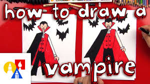 how to draw a vampire youtube