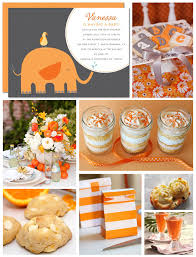 baby shower colors orange creamsicle baby shower inspiration board gray baby