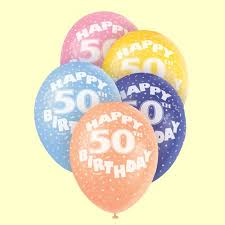 50th birthday balloons 50th birthday pearlised balloons pack of 5 party wizard