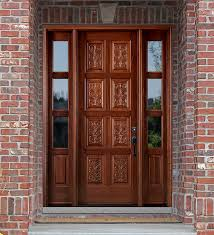 Patio Door With Sidelights Hand Carved Doors