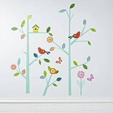 kids wall decals and stickers the land of nod blooming tree decal