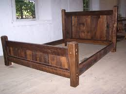 Country Bed Frame Country Cabin Rustic Bed Frame With Beveled Posts