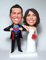 superman wedding cake topper wedding cake toppers custom cake toppers