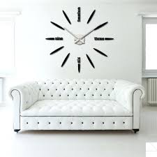 cool wall clock wall decor 9 chic homes with white brick walls winsome 9 chic
