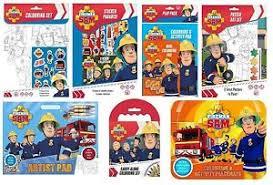 fireman sam 2015 design colouring activity u0026 sticker packs kits