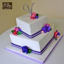 square purple wedding cake wedding the hudson cakery