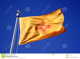 New Mexican Flag New Mexico Flag Stock Photo Image Of Blue Pole South 894462