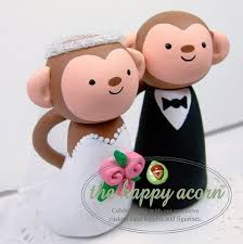 monkey cake topper items similar to monkey wedding cake topper monkeys handmade by