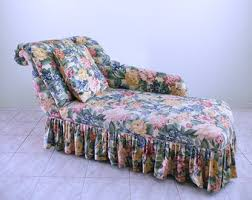 Floral Chaise Vintage Chaise Lounge Etsy