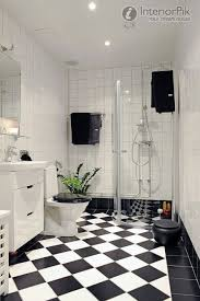 great black and white floor tiles bathroom 37 for home design