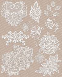 lace ornaments textures for poser and daz studio